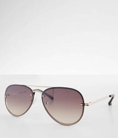 BKE Rimless Aviator Sunglasses
