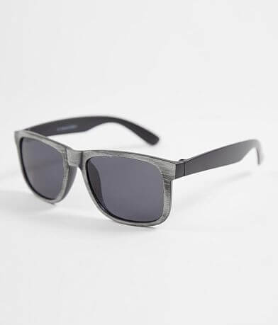 BKE Distressed Woodgrain Sunglasses