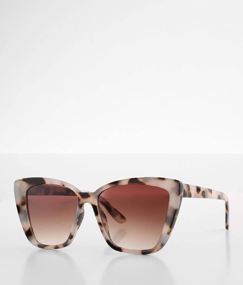 BKE Oversized Cat Eye Sunglasses front view