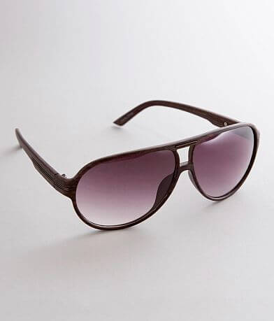 BKE Woodgrain Aviator Sunglasses