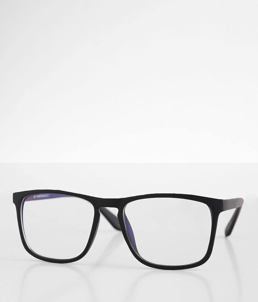 BKE Matte Blue Light Blocking Glasses front view