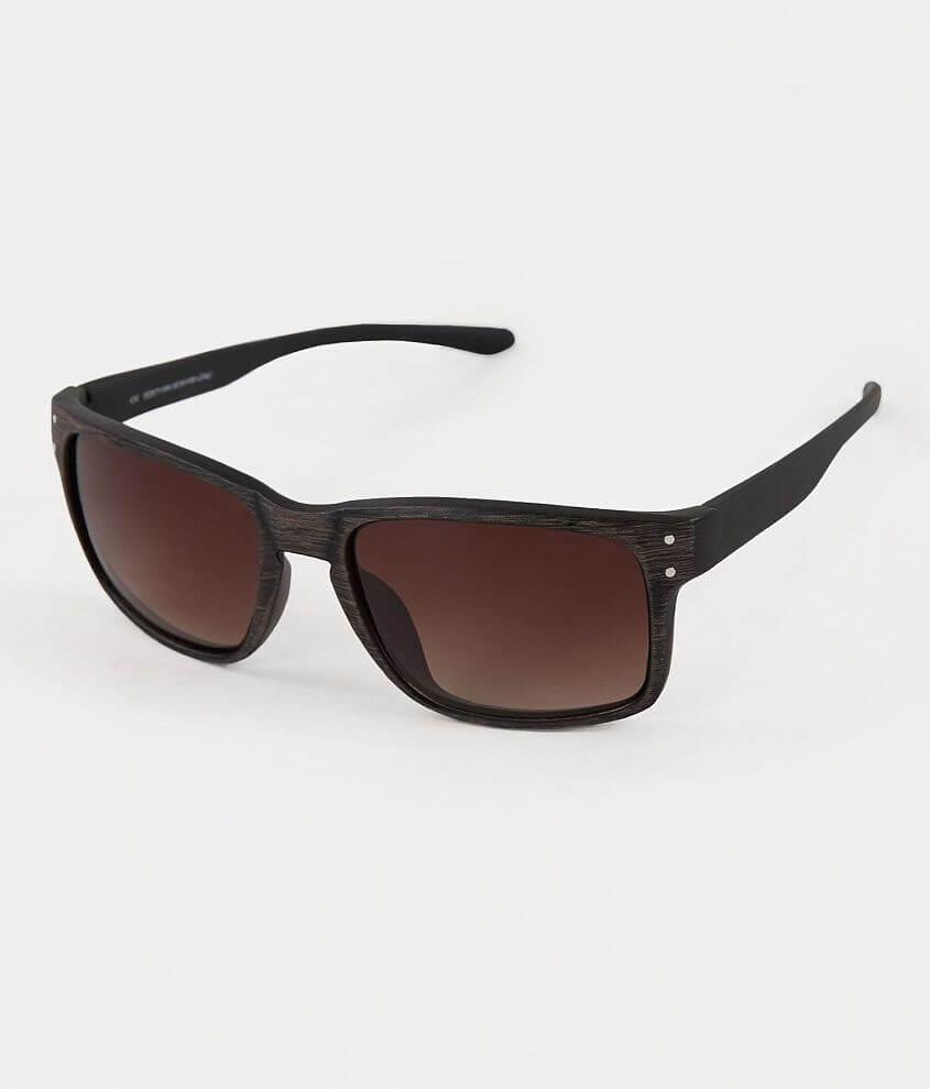 BKE Woodgrain Two-Tone Sunglasses front view