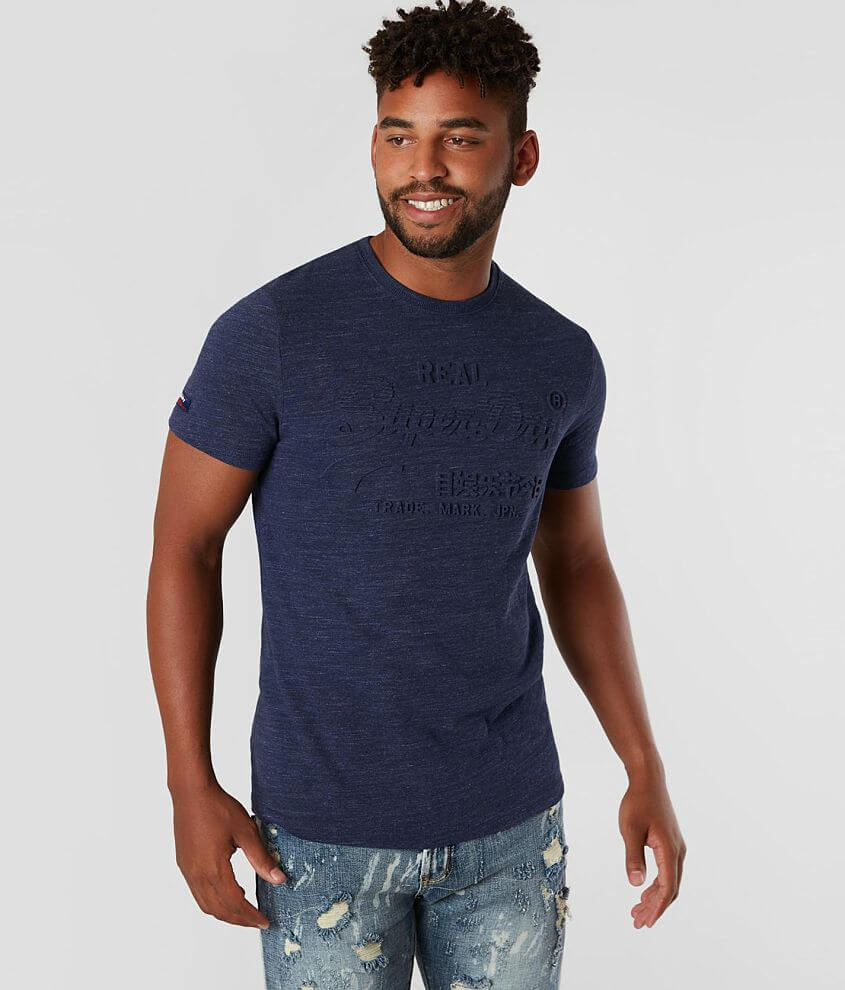 Embossed logo heathered t-shirt Model Info: Height: 6\\\'0\\\