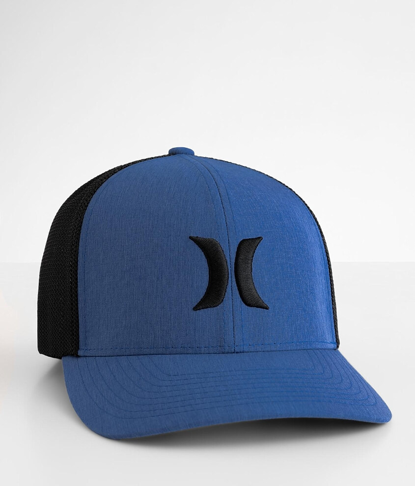Hurley Icon Textures Stretch Trucker Hat front view
