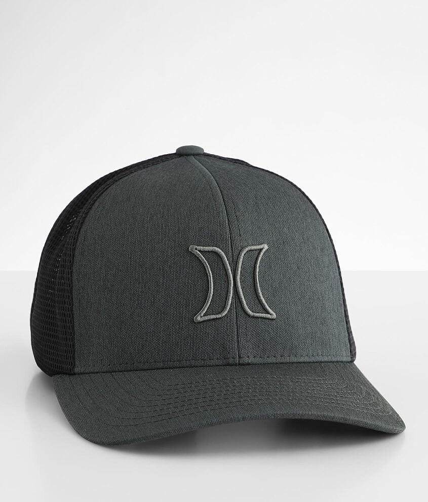 Hurley Port Icon Stretch Trucker Hat front view
