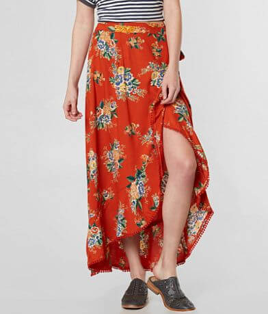 Angie Floral Wrap Maxi Skirt