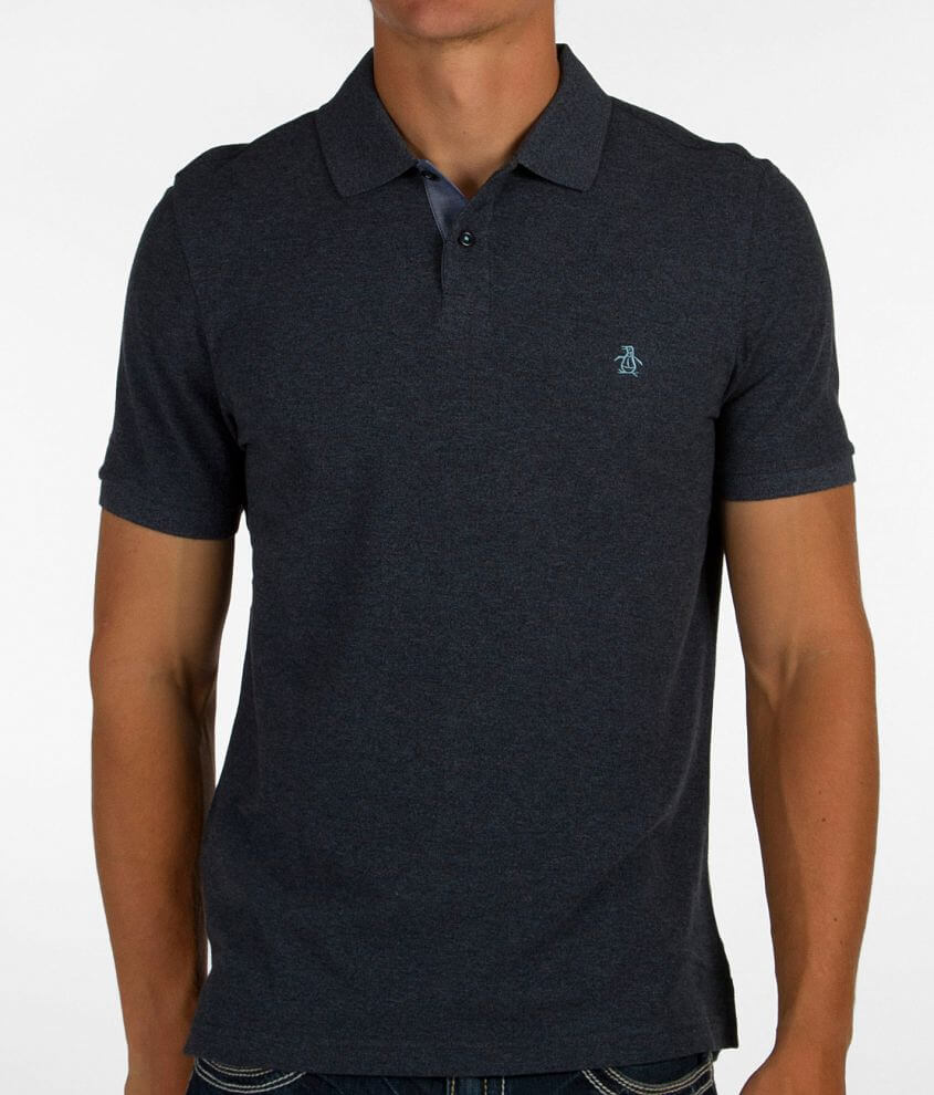 Penguin Oxford Trim Daddy-O Polo front view