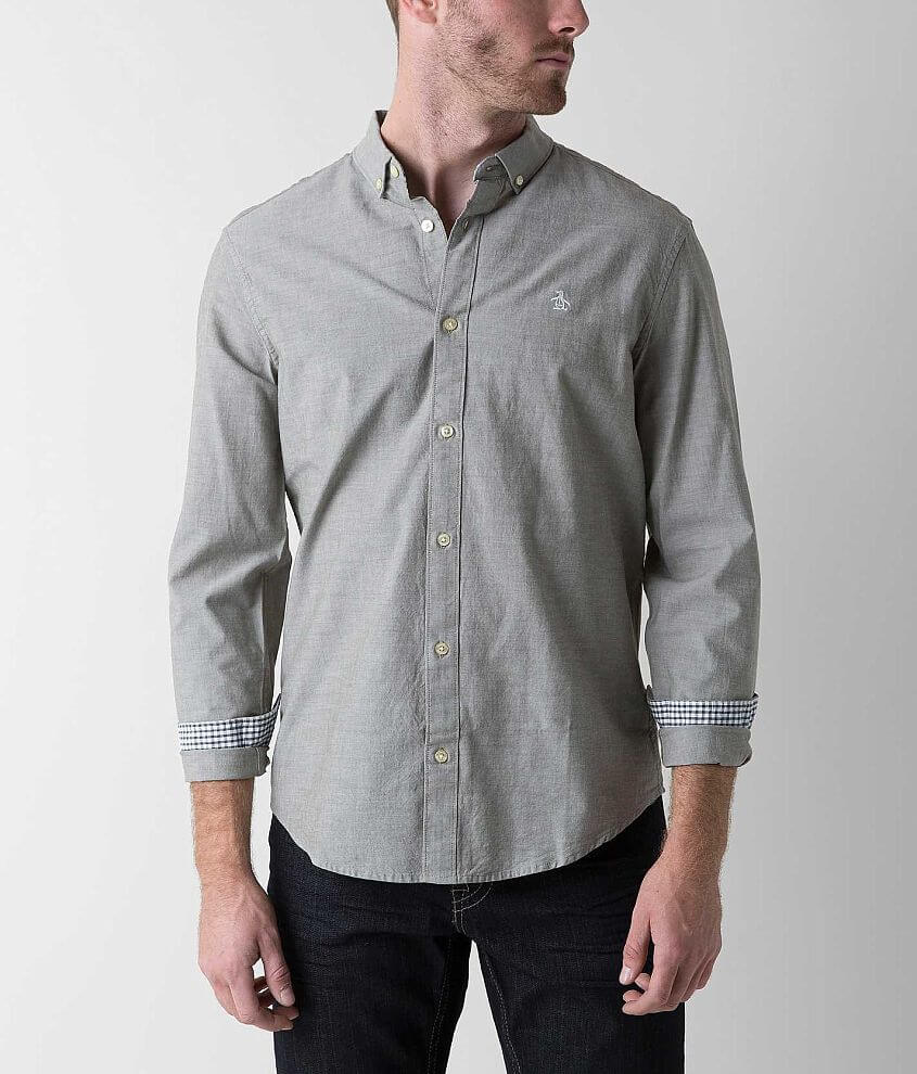 Penguin Heritage Oxford Shirt front view