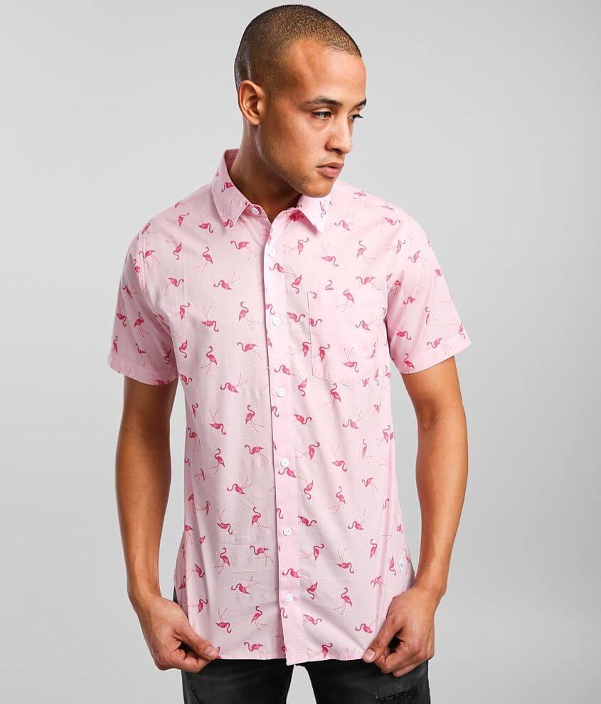 Departwest Flamingo Wave Shirt front view