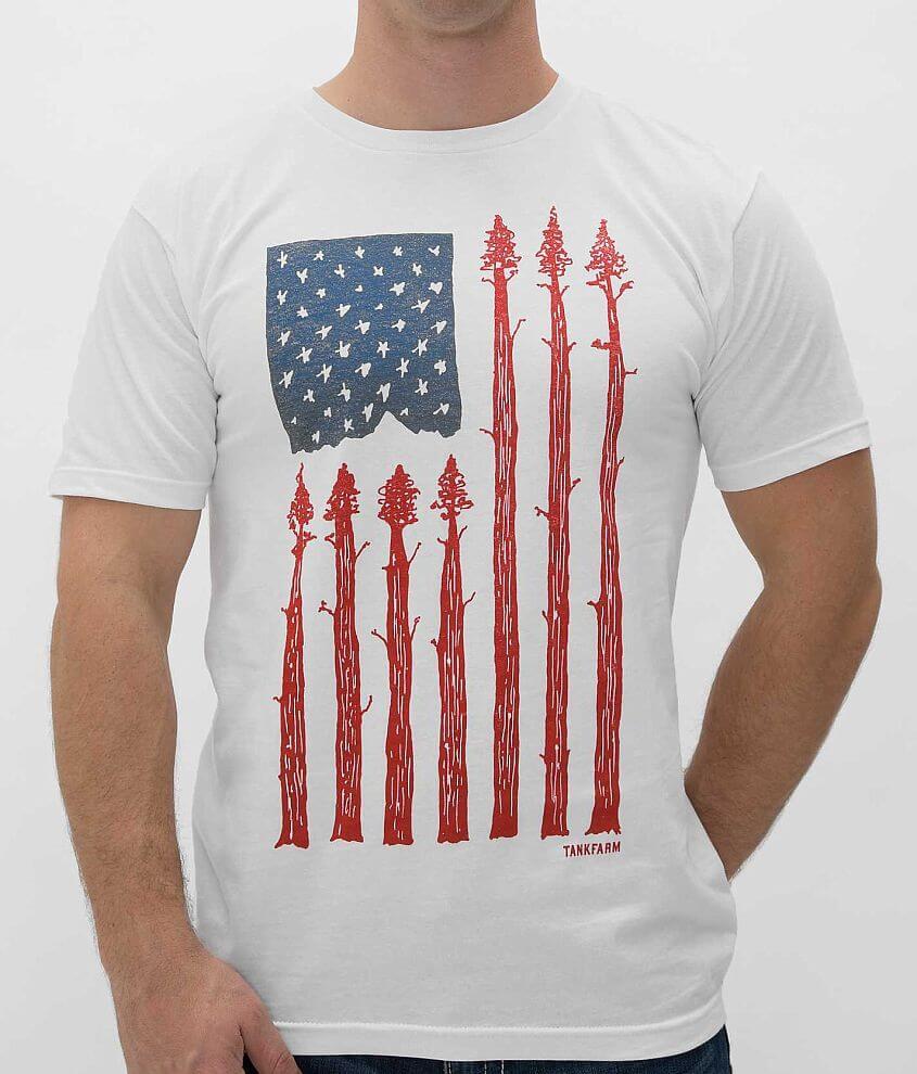 Tankfarm Arbor Flag T-Shirt front view