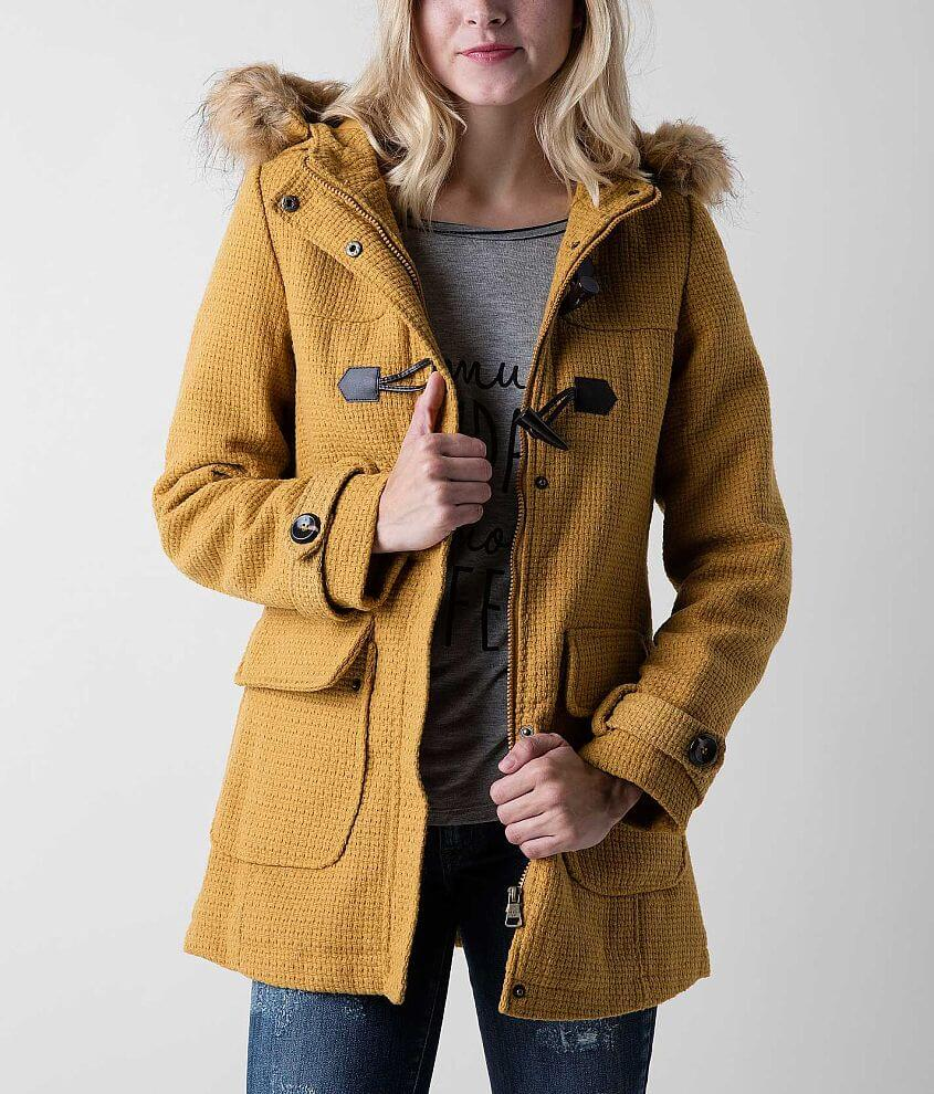 Madden Girl Textured Coat front view