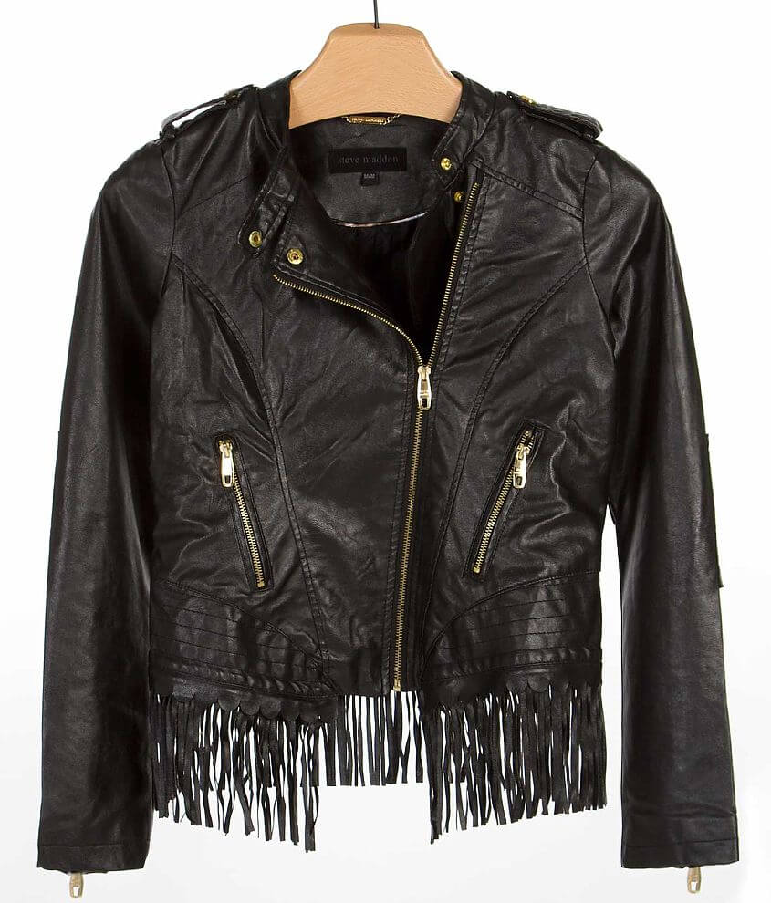Steve Madden Cropped Jacket front view