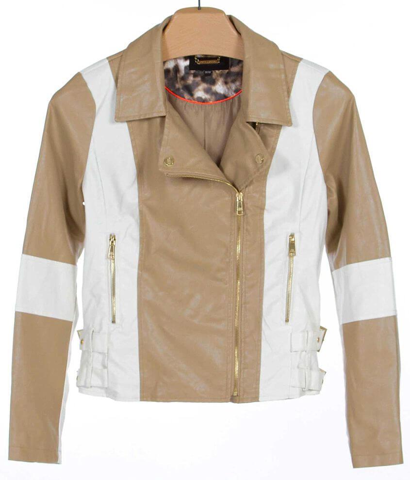 Steve Madden Color Block Jacket front view