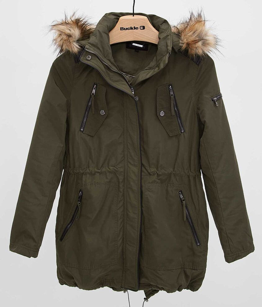 Steve Madden Solid Coat front view