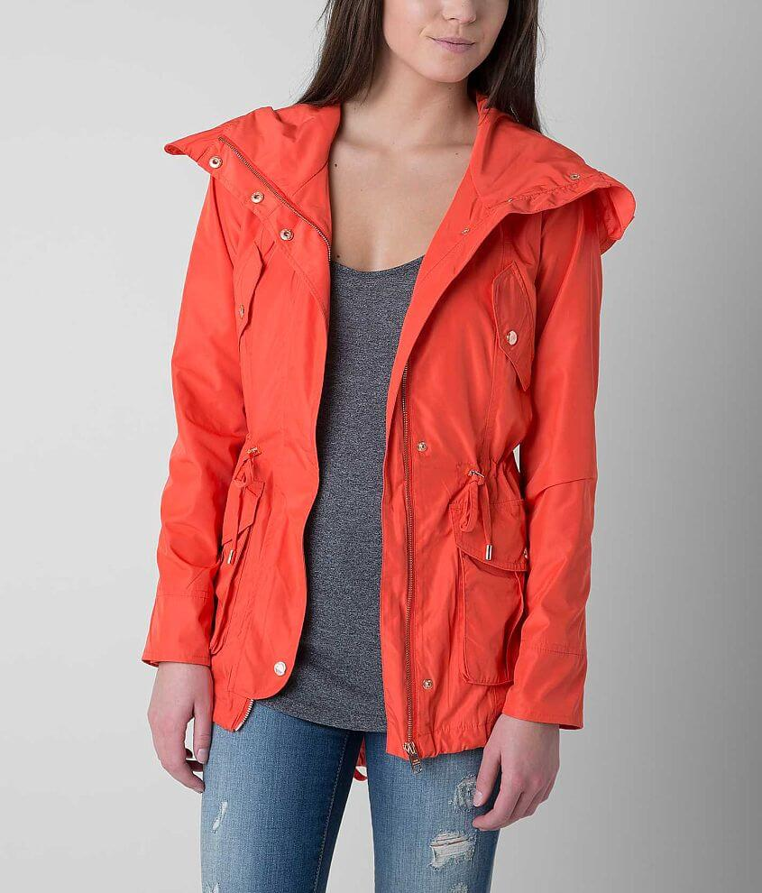 Steve Madden Solid Anorak front view