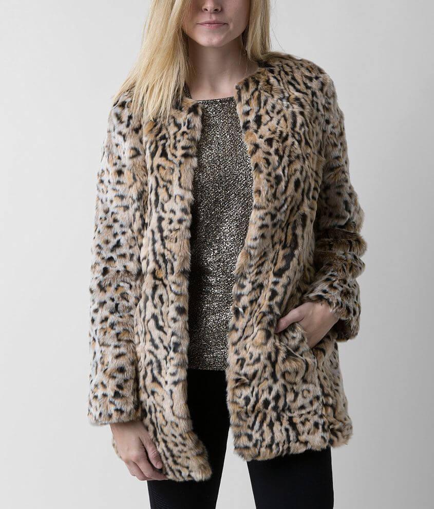 Steve Madden Leopard Print Jacket front view