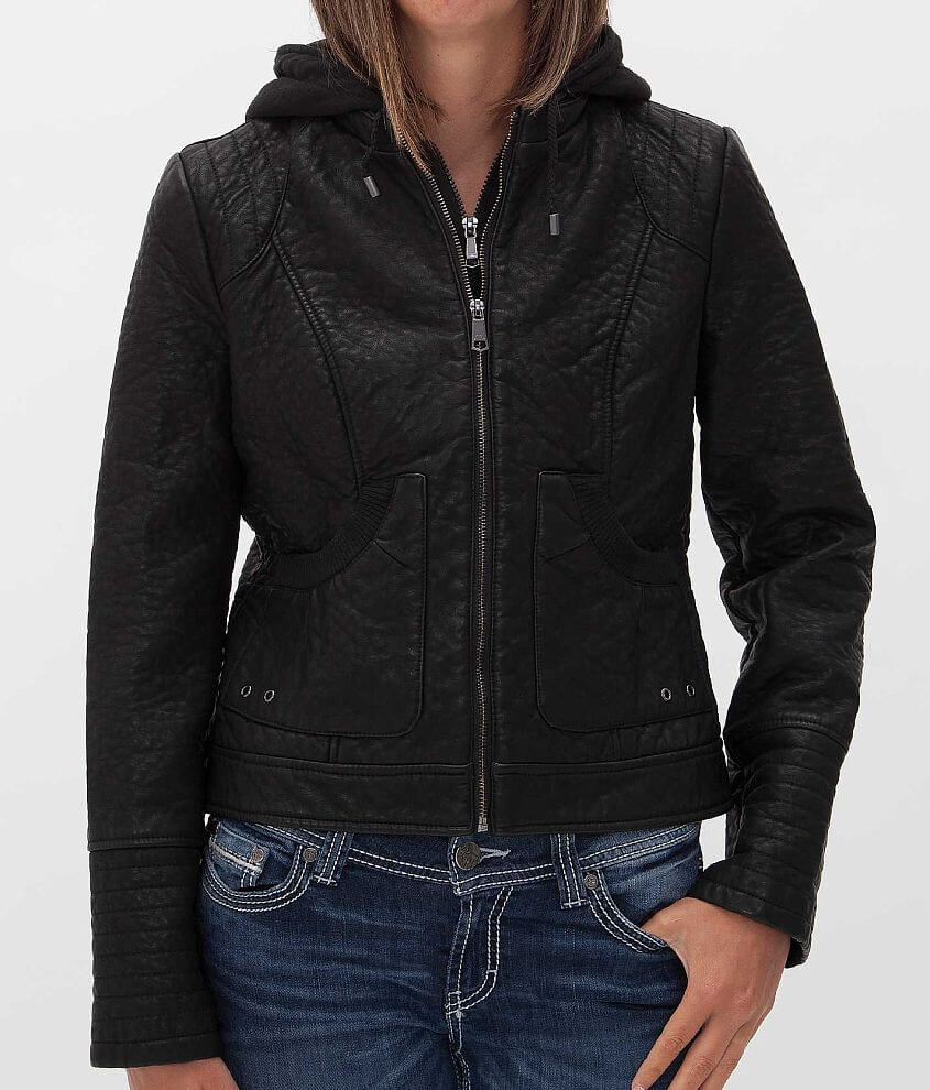 Steve Madden Distressed Jacket front view