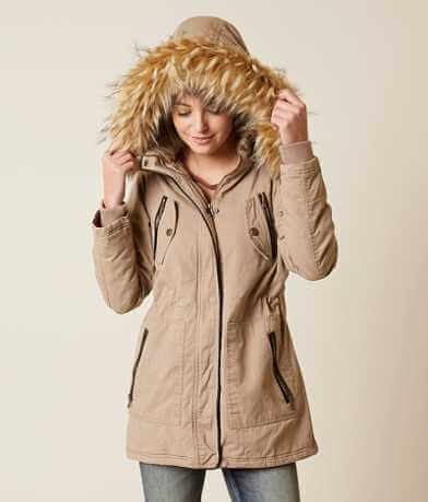 Steve Madden Canvas Parka Coat