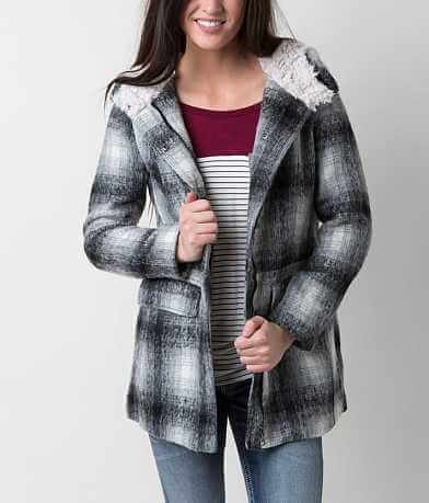 Madden Girl Plaid Coat