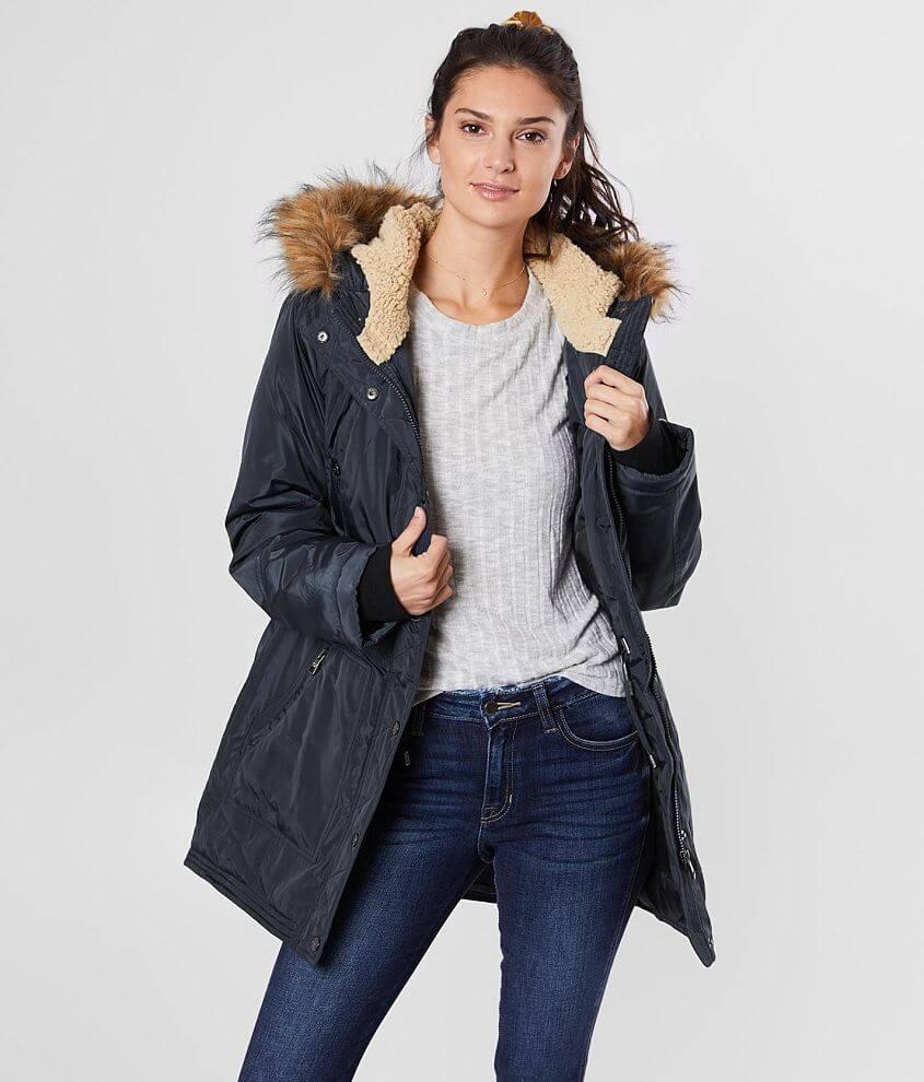 Madden Girl Cozy Coat front view