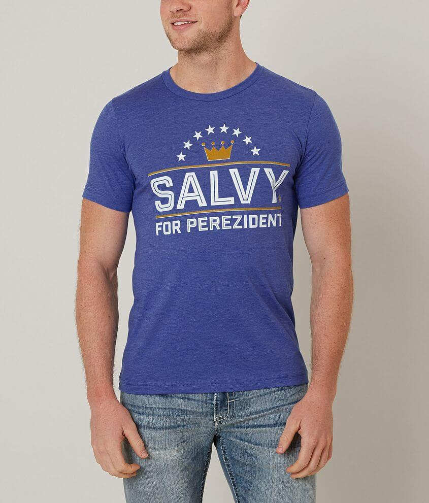 Fresh Brewed Tees Salvy For Perezident T-Shirt front view