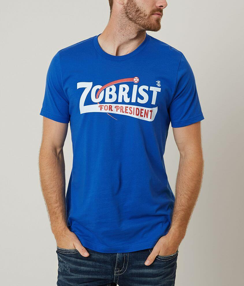 Fresh Brewed Tees Zobrist for President T-Shirt front view