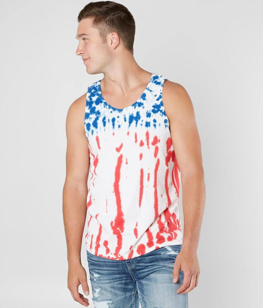 Buzz USA Flag Tank Top front view