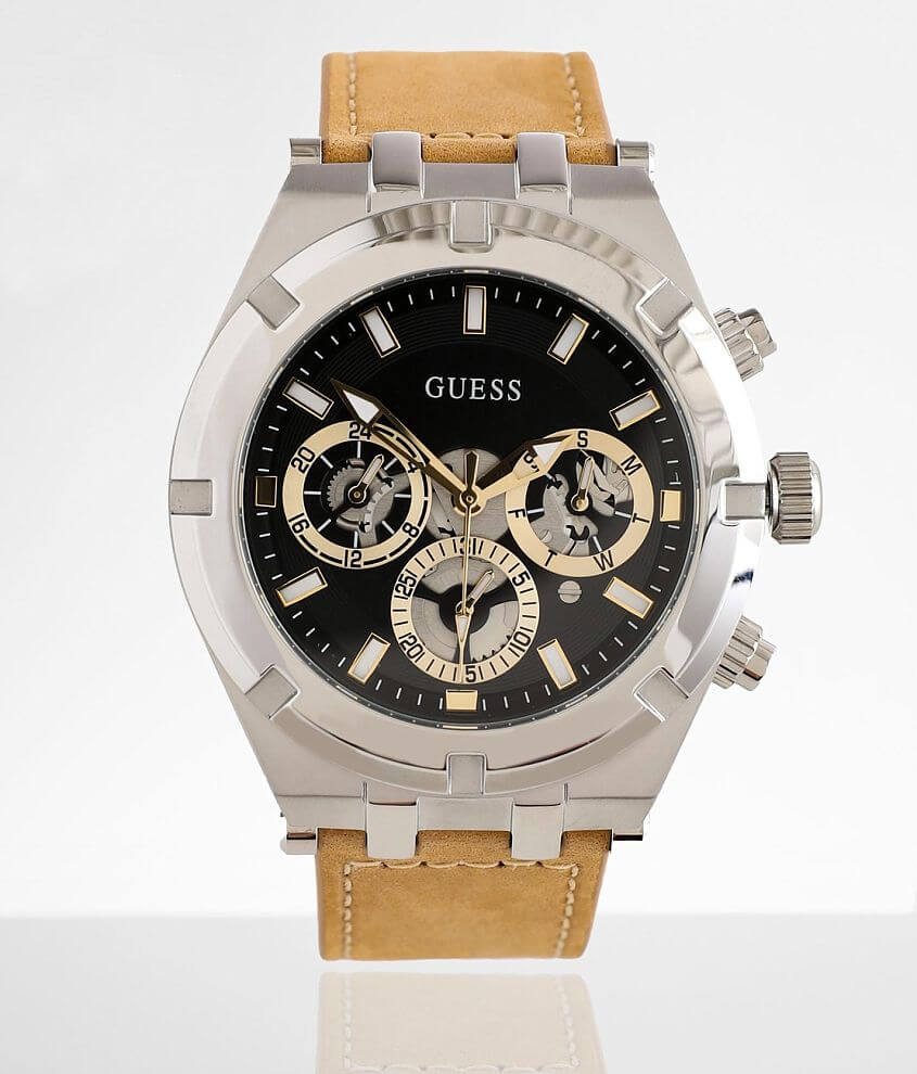Guess Leather Watch front view