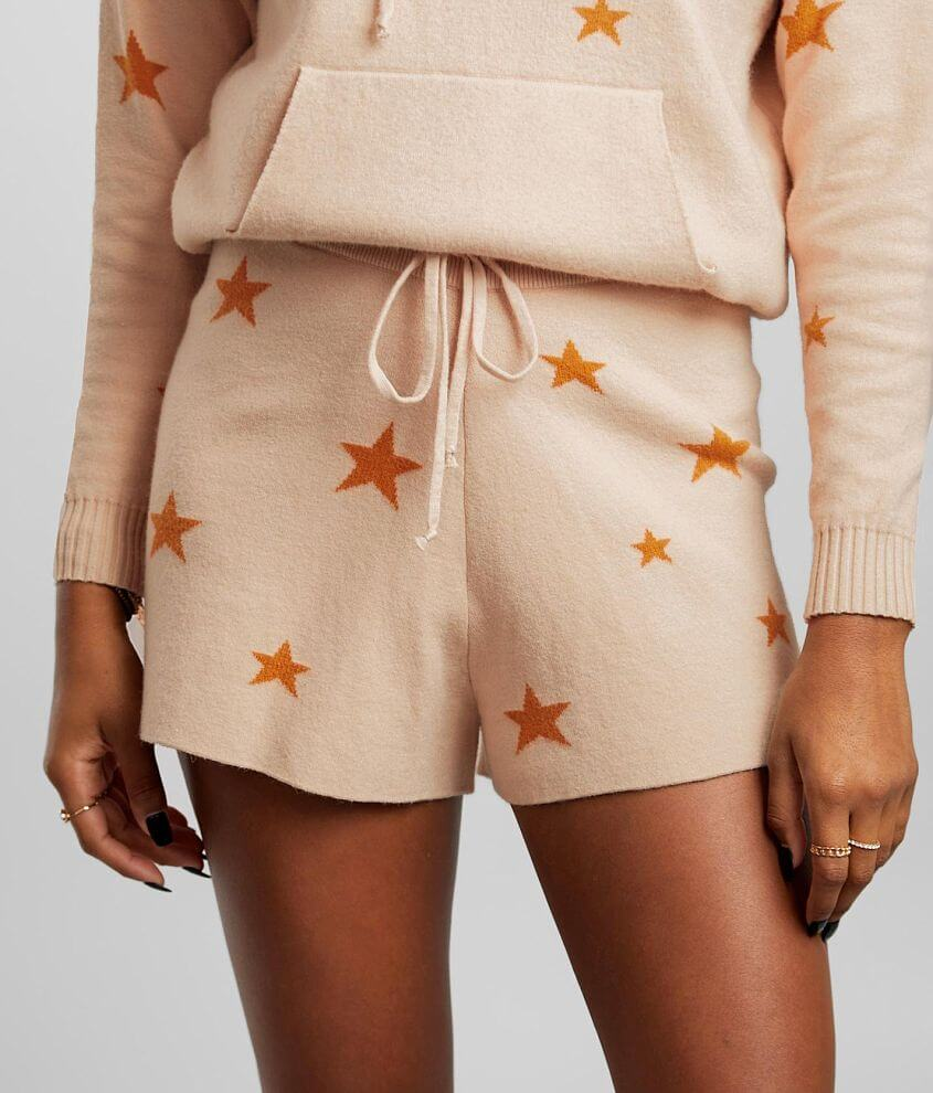 BKE Star Print Sweater Knit Short front view