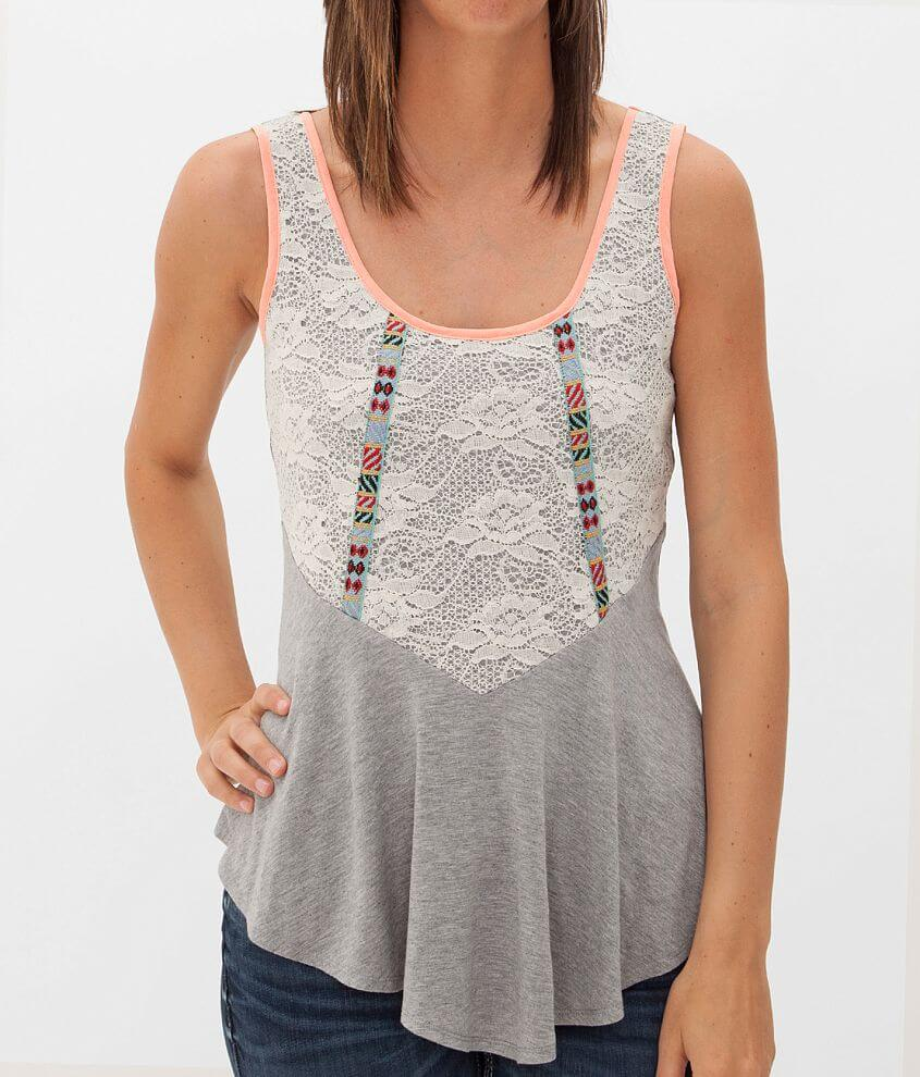 Daytrip Pieced Tank Top front view