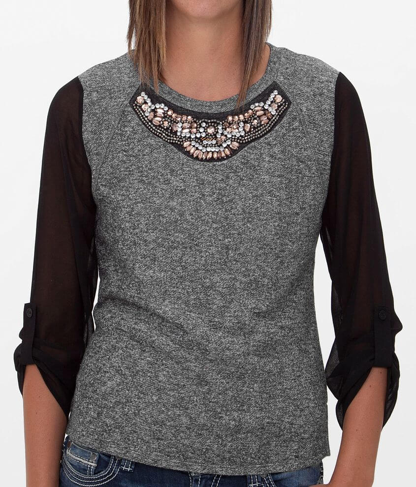 Daytrip Embellished Top front view