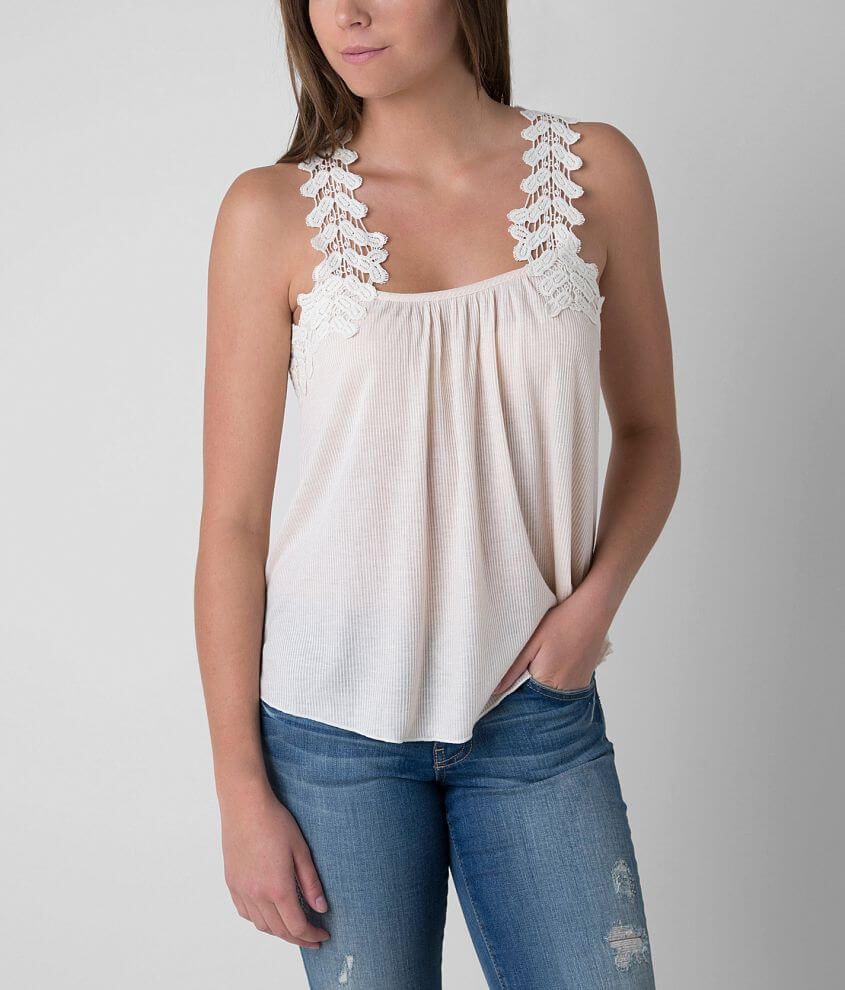Daytrip Ribbed Tank Top front view