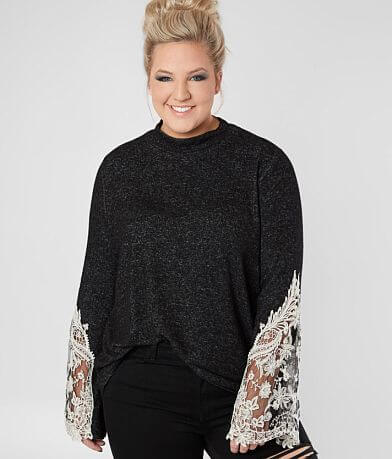 Daytrip Brushed Fleece Top - Plus Size Only
