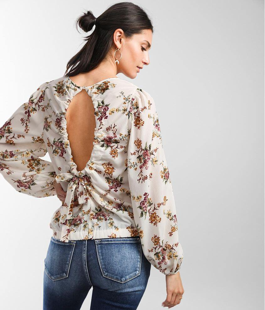 Daytrip Woven Floral Top front view
