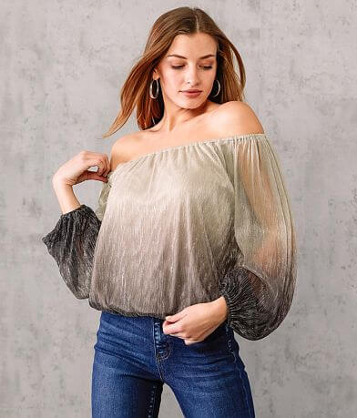 Willow & Root Metallic Ombre Top