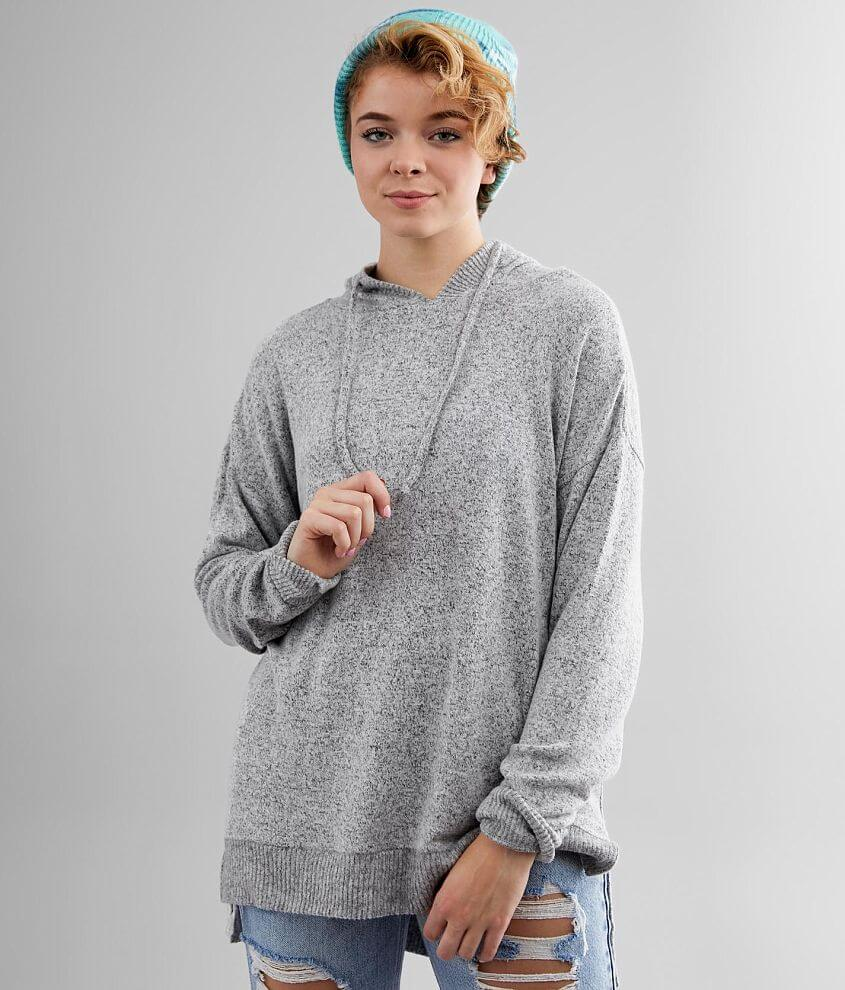 BKE Brushed Knit Hoodie front view