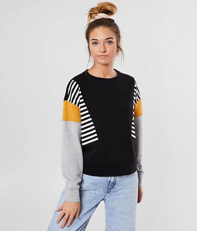 FITZ + EDDI Color Block Pullover Sweatshirt