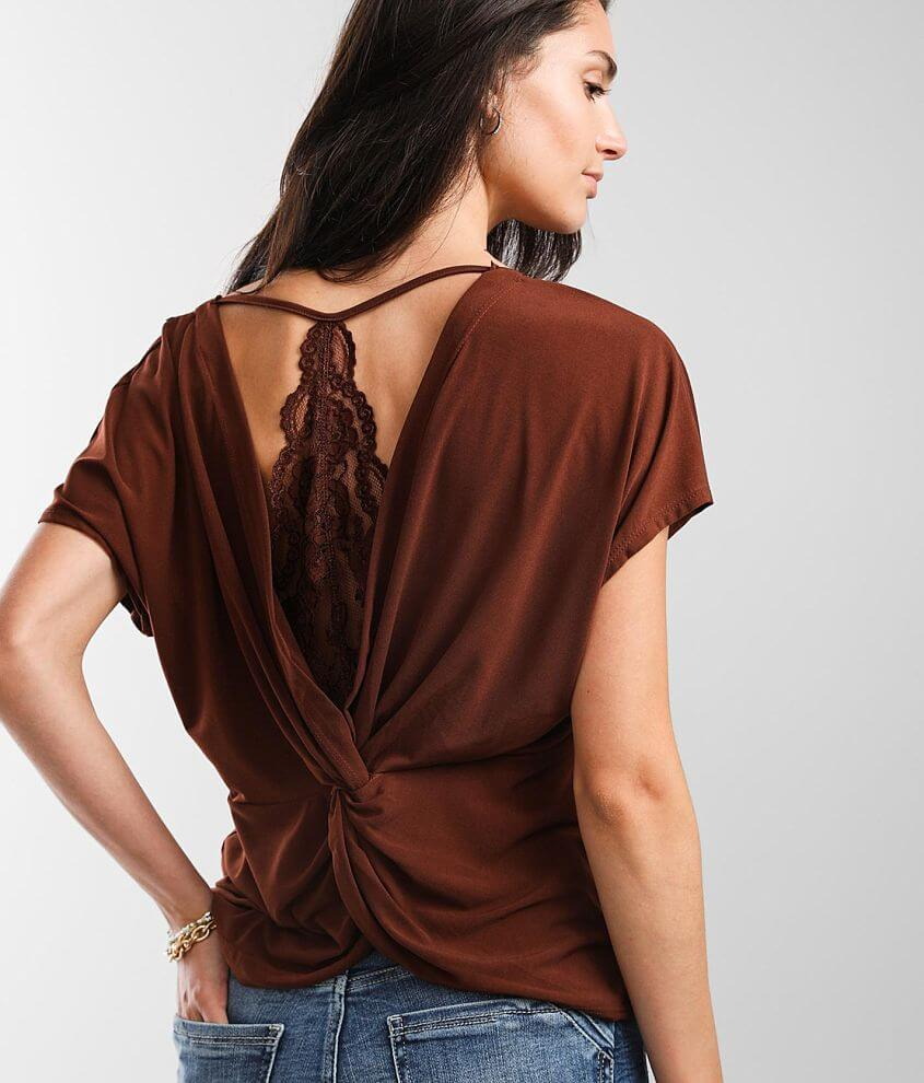 Daytrip Lace Trim Top front view