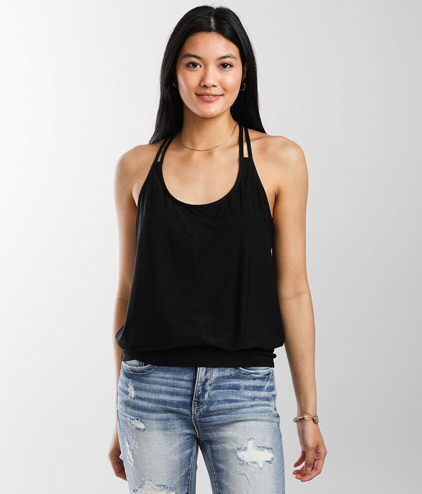 Daytrip Lace T-Back Tank Top front view