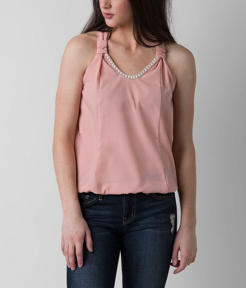 Daytrip Embellished Tank Top front view