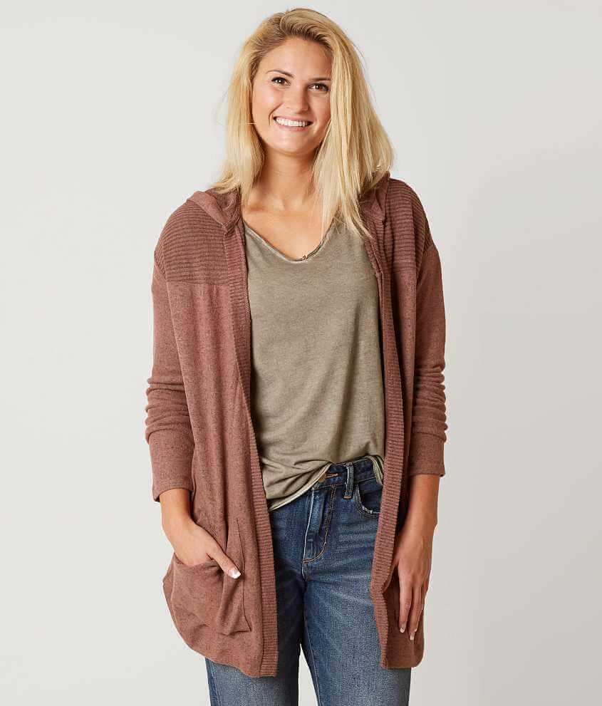 Daytrip Fleece Cardigan Sweater - Women's Sweaters in Cognac | Buckle