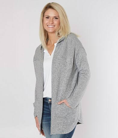 Daytrip Reverse Fleece Cardigan