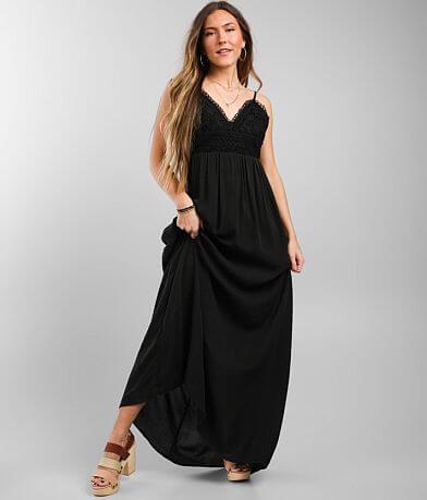 Daytrip Crochet Bodice Maxi Dress