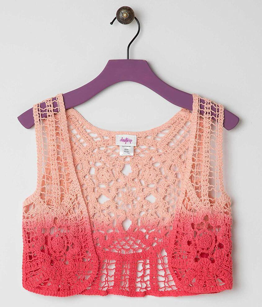 Girls - Daytrip Crochet Vest front view