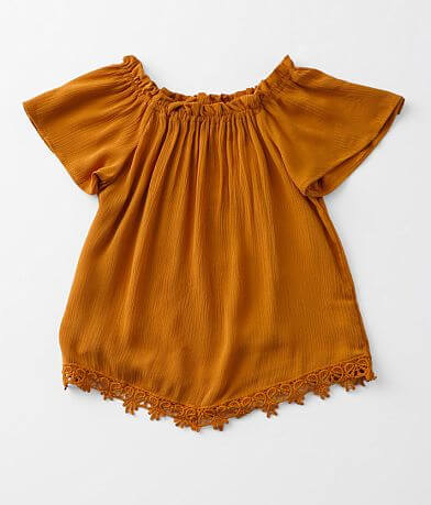 Girls - Daytrip Crochet Trim Top
