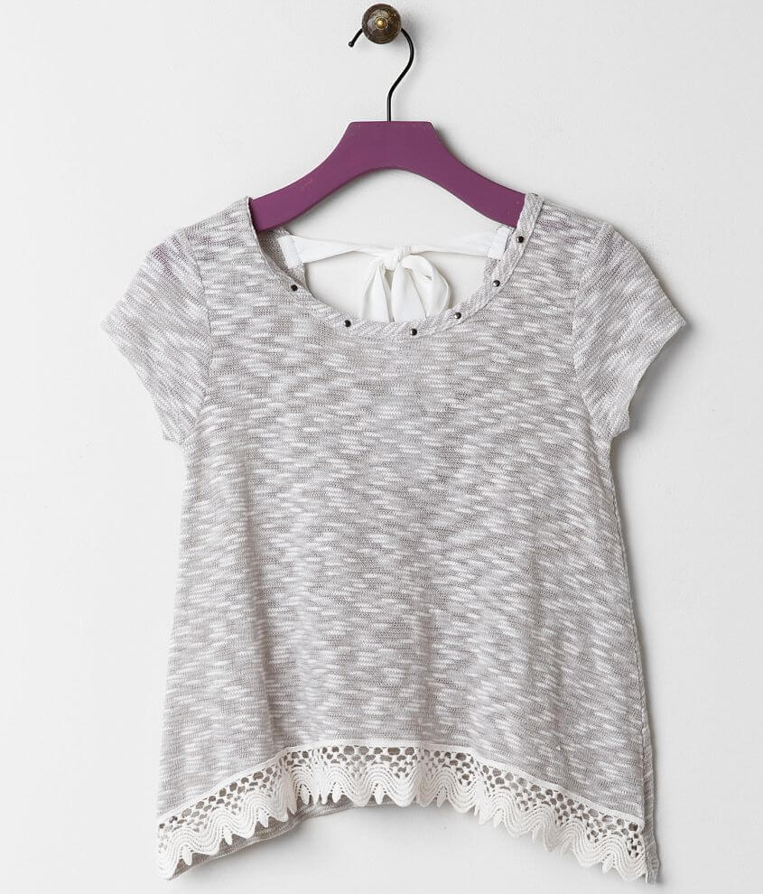 Girls - Daytrip Studded Top front view