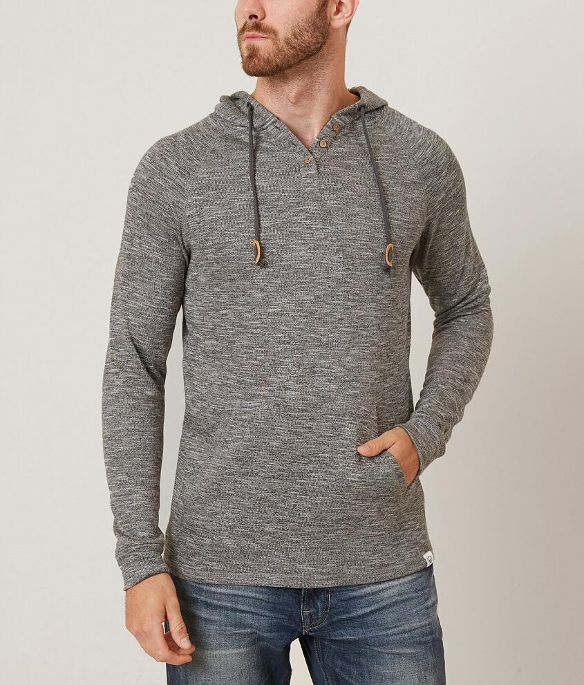 tentree Irvin Hooded Henley Sweater - Men's Sweaters in Grey | Buckle