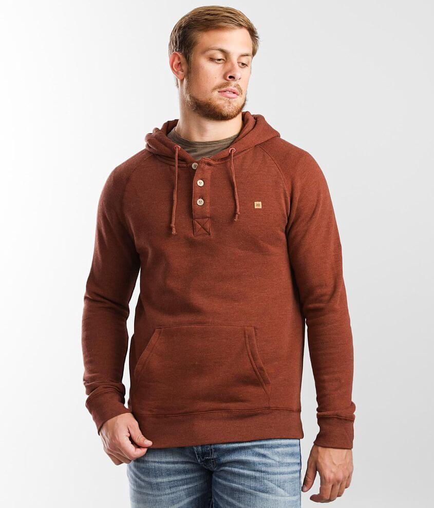 tentree Oberon Hooded Henley Sweatshirt front view