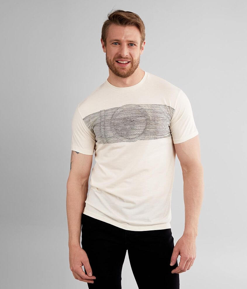 Graphic triblend t-shirt Tencel® (Lyocell) fabric offers optimum moisture transportation for your skin\\\'s well-being Ten trees are planted for every item purchased Model Info: Height: 6\\\'2\\\