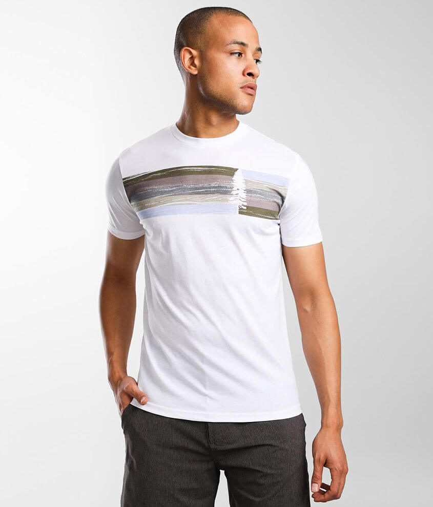 tentree Spruce Stripe T-Shirt front view